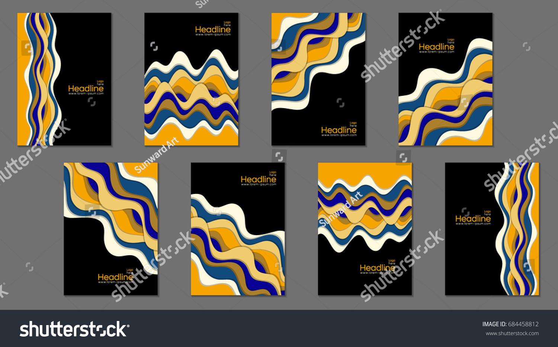 Book Cover Vector Templates Egyptian Color Stock Vector 684458812 ...