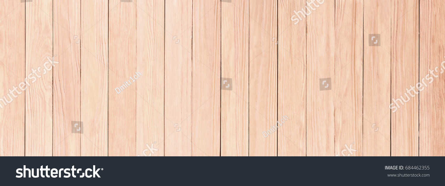 Panorama Light Wooden Texture Desktop Background Stock Photo 684462355