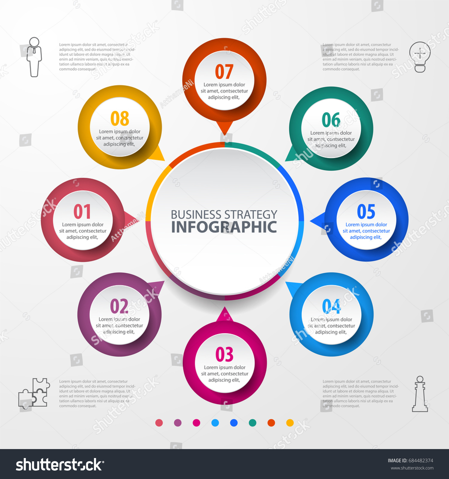 Business Infographics Strategy Timeline Design Template Stock - Timeline design template