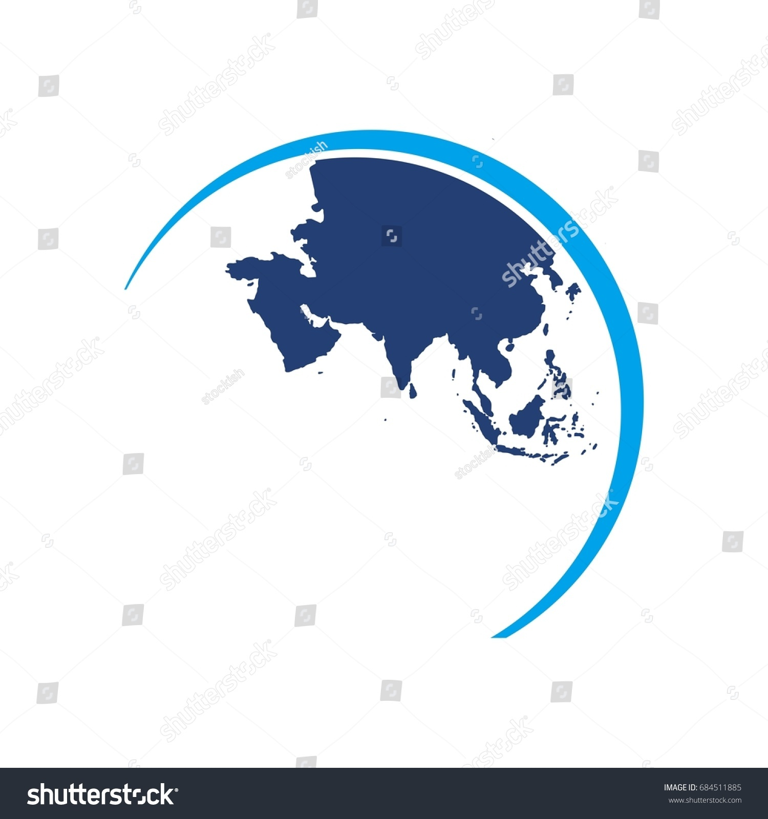 Asia globe map world map logo stock vector royalty free 684511885 asia globe map world map logo vector gumiabroncs Gallery