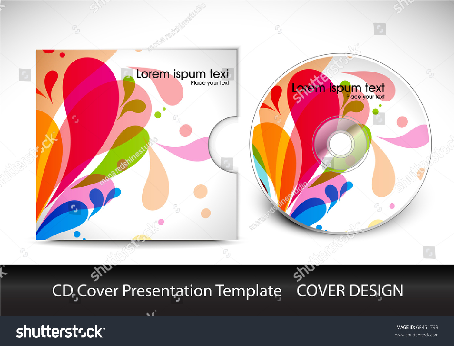 cd cover layout design template preview editable stock vector illustration 68451793. Black Bedroom Furniture Sets. Home Design Ideas