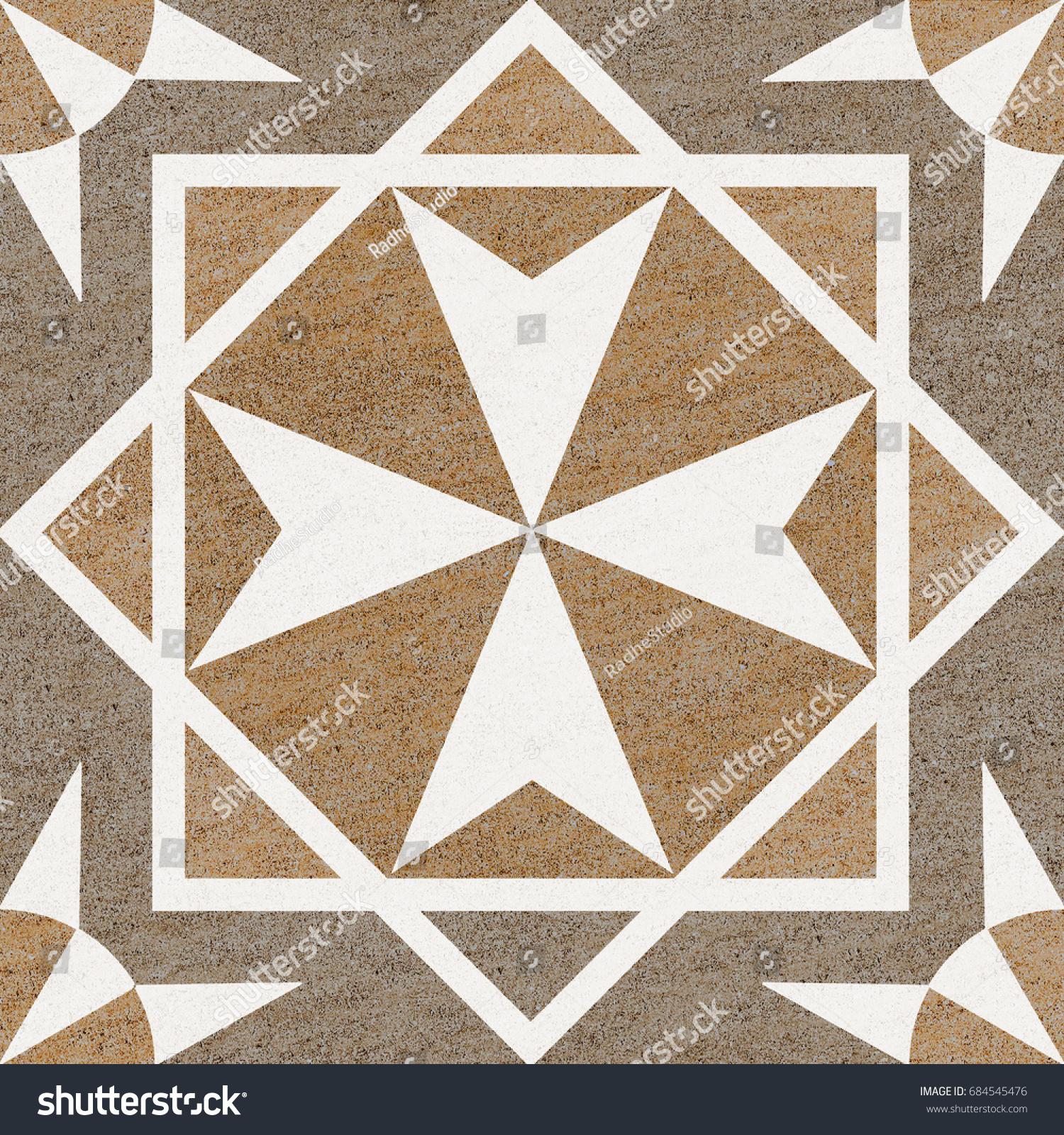Marble Floor Tiles Pattern Porcelain Tiles Stock Illustration ...