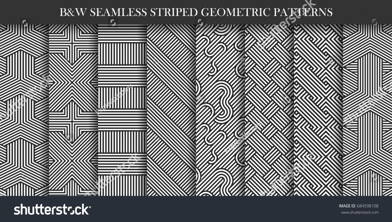 Disegni Geometrici Bianco E Nero immagine vettoriale stock 684598108 a tema collezione di