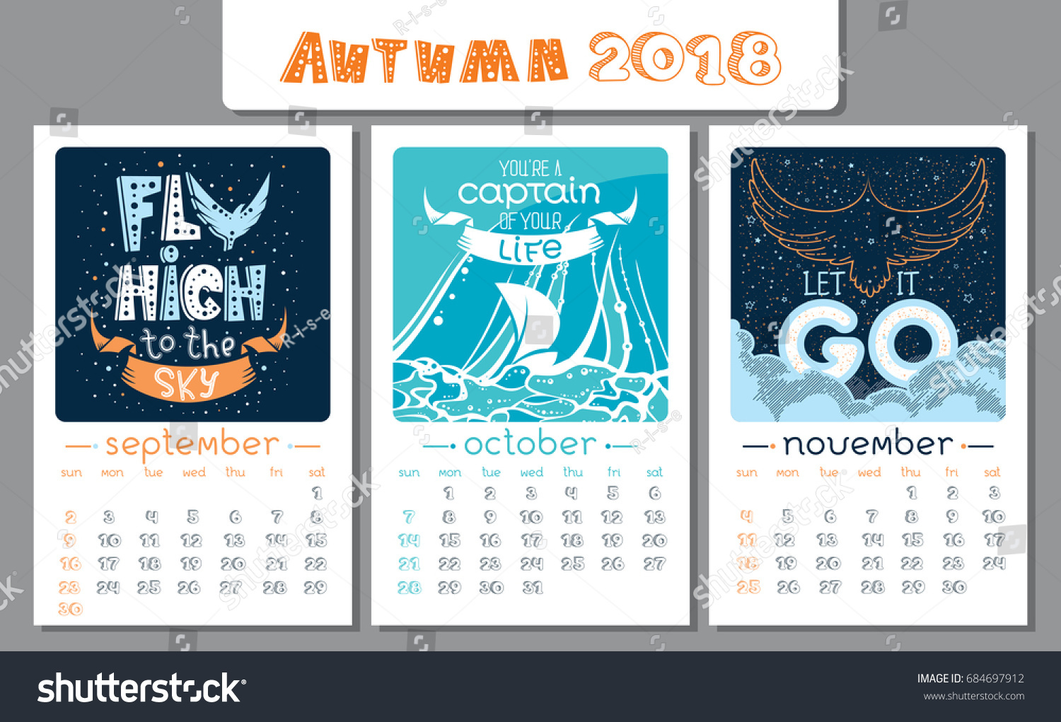 November Calendar Design : Calendar design year vector illustration stock
