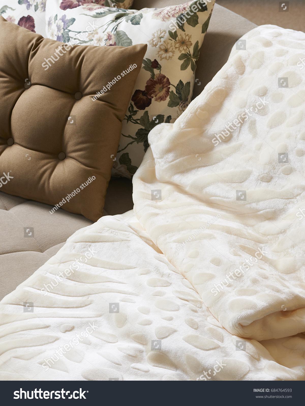 Interior Design Blanket Living Room Home Stock Photo Edit Now 684764593