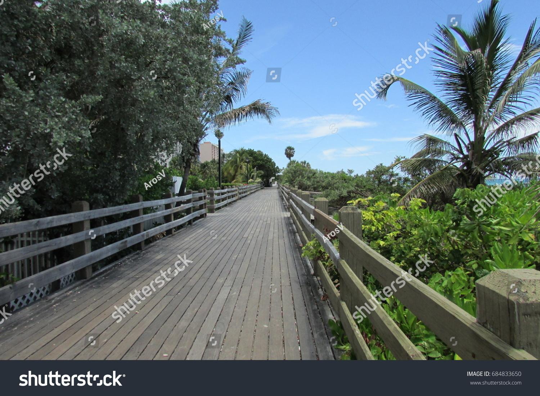 south beach boardwalk miami beach florida stock photo (edit