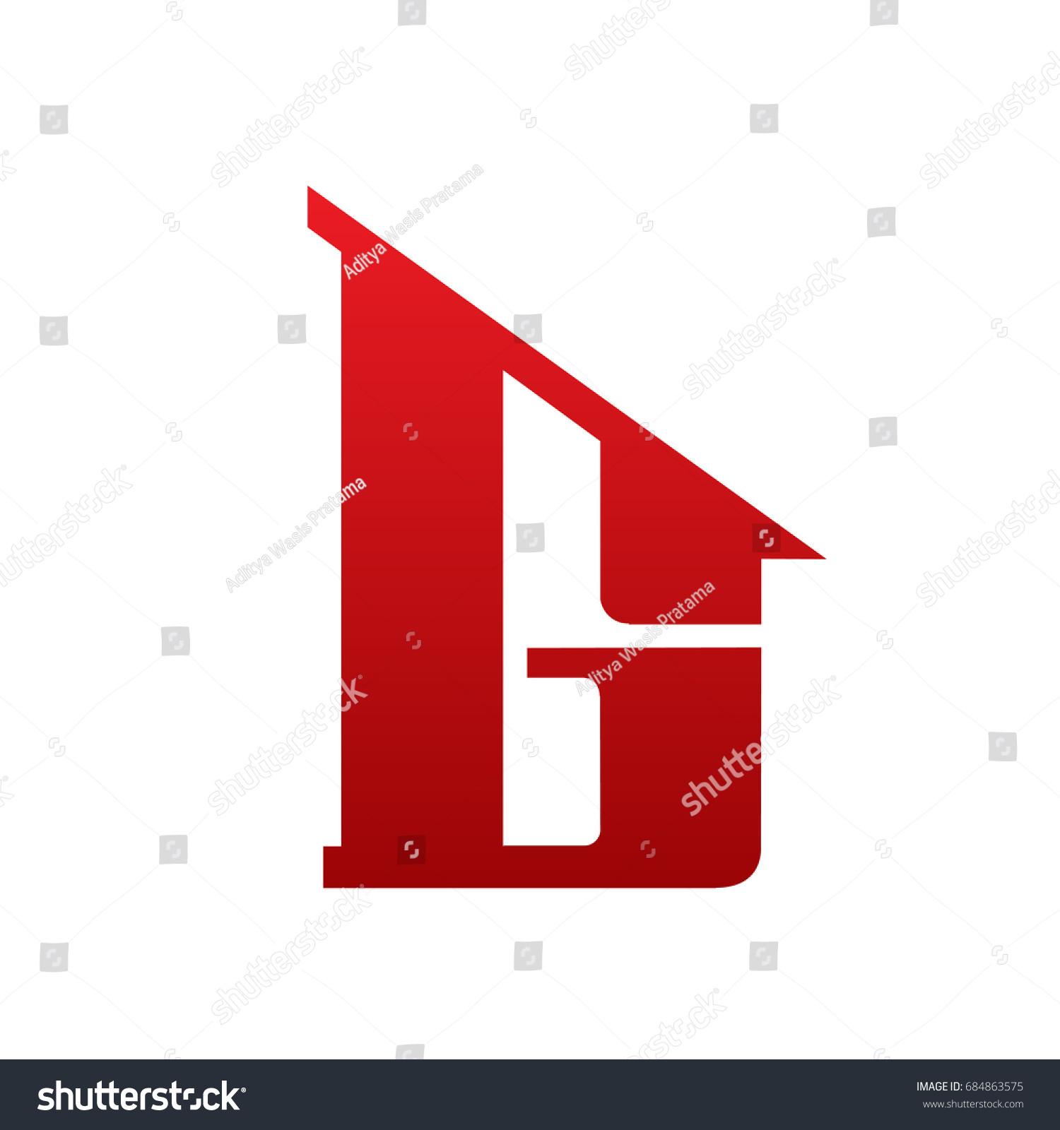 Vector Red Single Letter G Realtor Logo