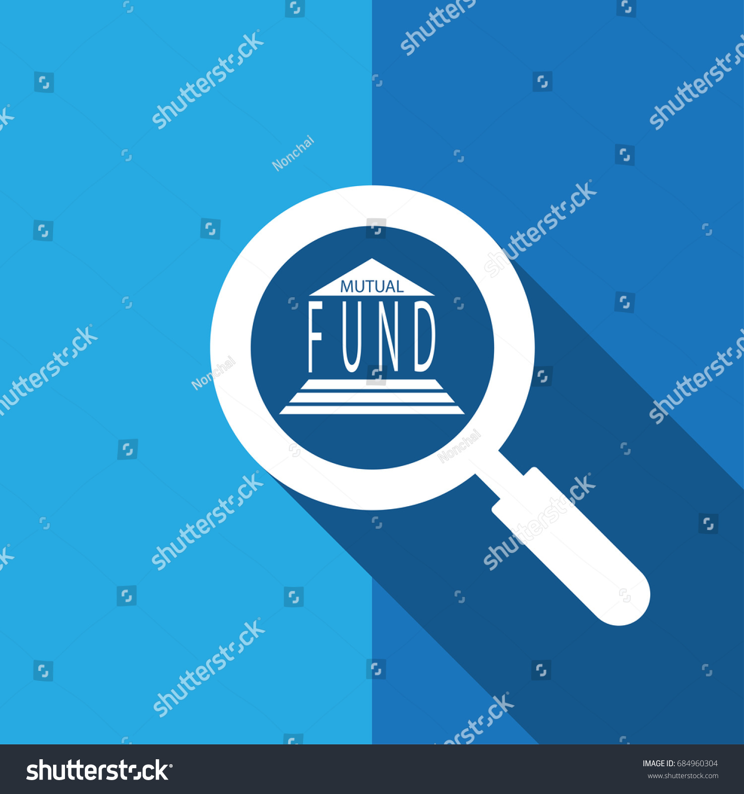 Search Find Mutual Fund Bond Investment Stock Vector Royalty Free