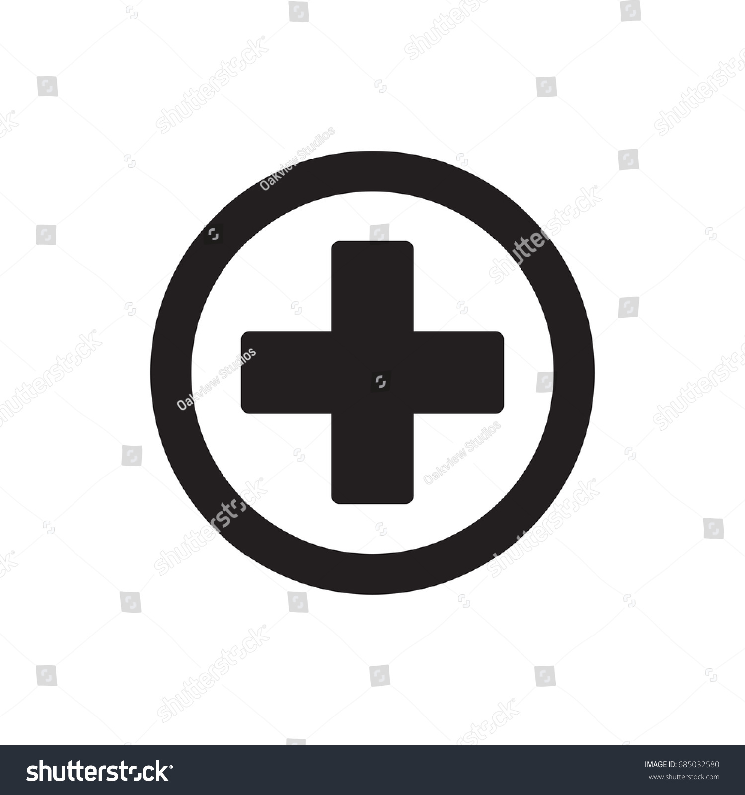 Plus sign icon positive symbol vector stock vector 685032580 plus sign icon positive symbol vector biocorpaavc Choice Image