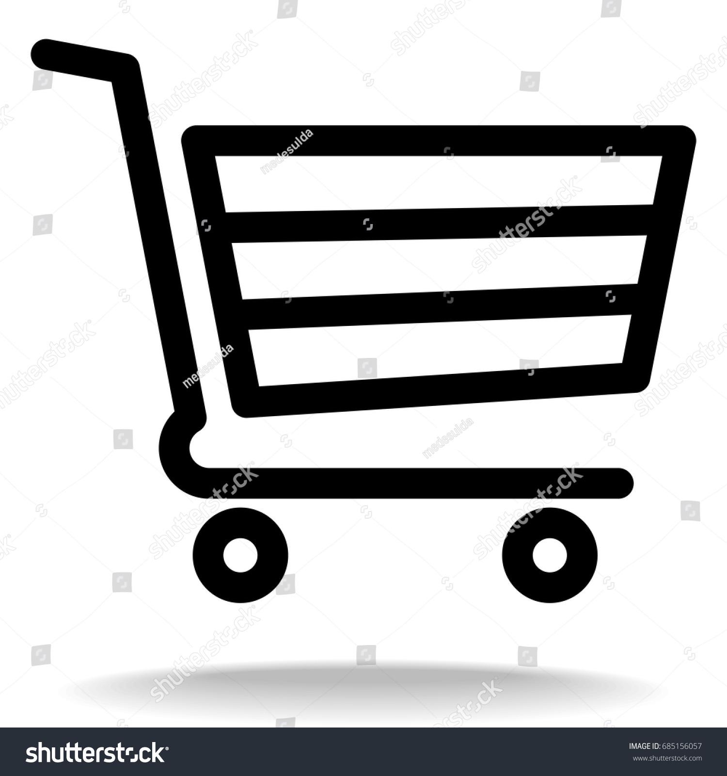 shopping cart vector icon supermarket trolley stock photo photo rh shutterstock com shopping cart vector image shopping cart vector png