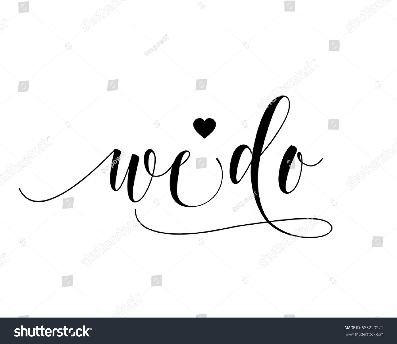 hand letter script wedding sign catch stock vector 685220221