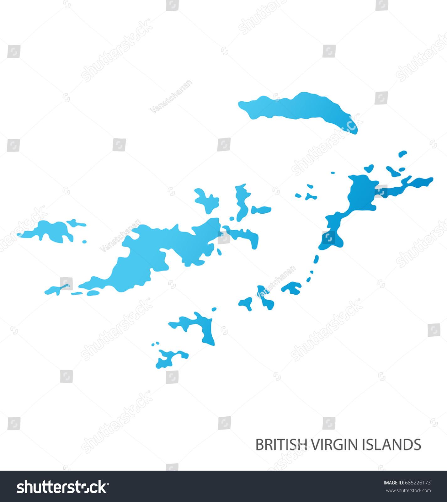 Map British Virgin Islands Stock Vector Shutterstock - British virgin islands map