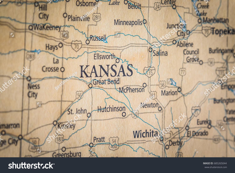 Closeup Selective Focus Kansas State On Stock Photo Edit Now