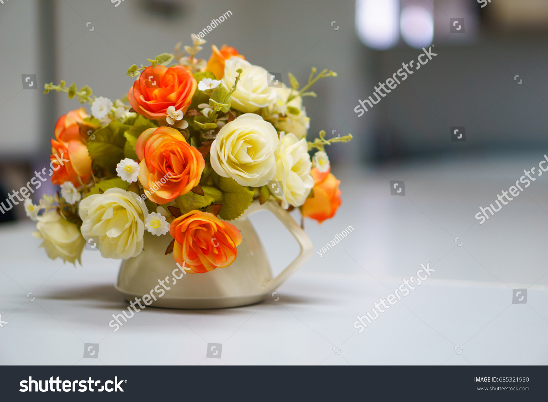 Fake Mock Bouquet Flowers Vase On Stock Photo Edit Now 685321930