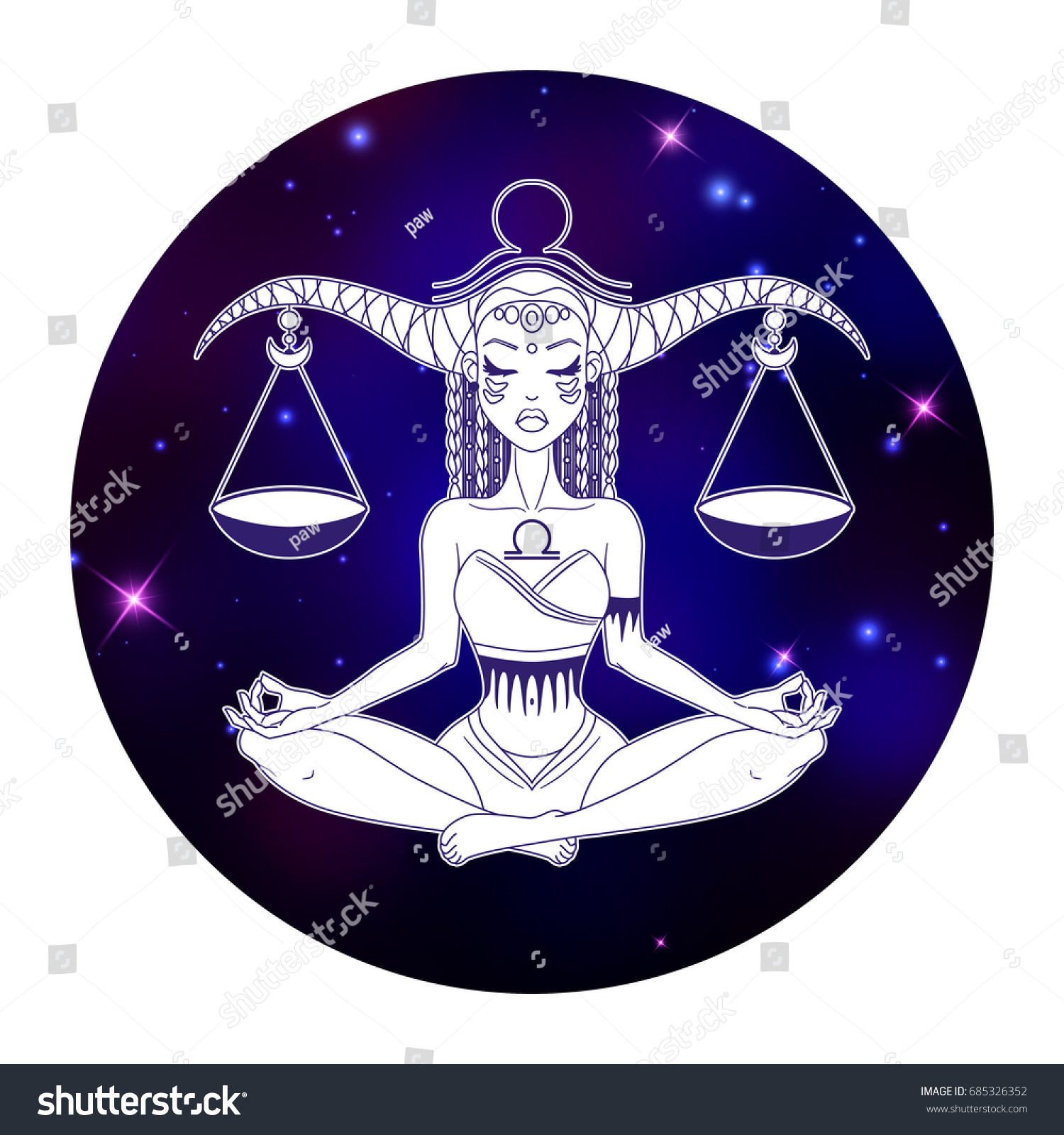 Libra zodiac sign horoscope symbol vector stock vector 685326352 libra zodiac sign horoscope symbol vector illustration biocorpaavc Choice Image