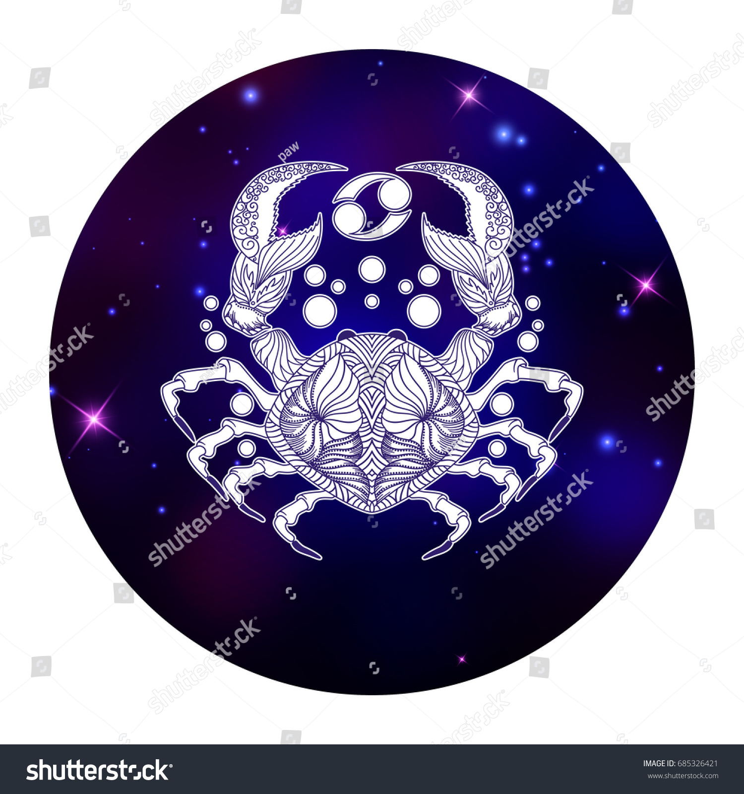 Cancer zodiac sign horoscope symbol vector stock vector 685326421 cancer zodiac sign horoscope symbol vector illustration biocorpaavc Gallery