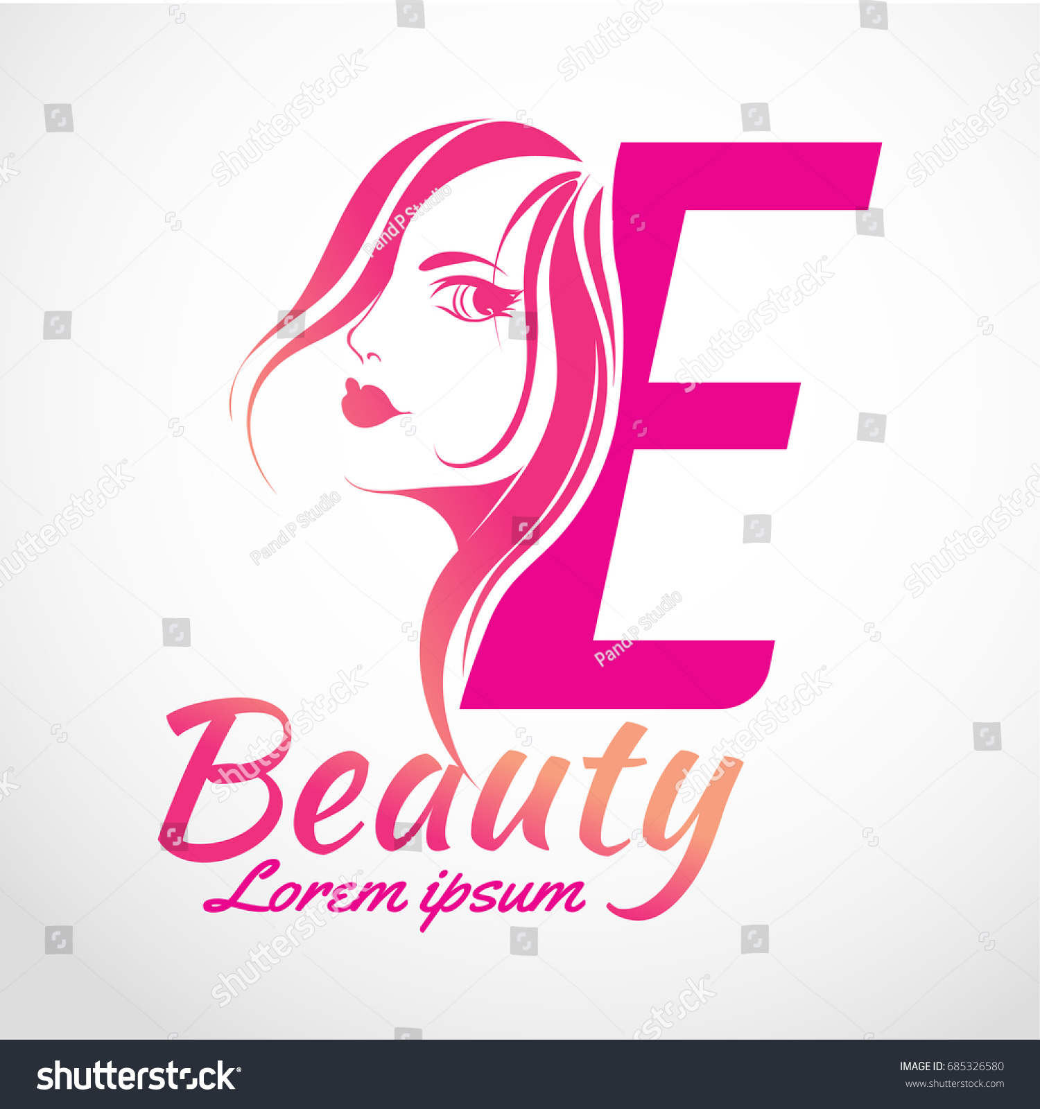 Abstract Letter E Logo Beauty Salon Stock Vector (Royalty Free ...