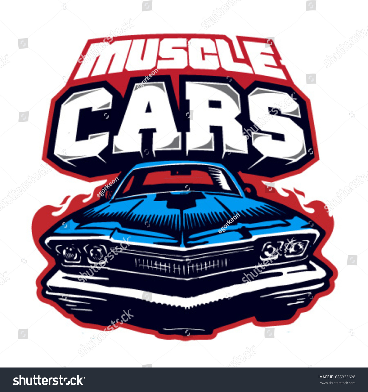 Muscle car logo vector isolated stock vector 685335628 shutterstock muscle car logo vector isolated biocorpaavc