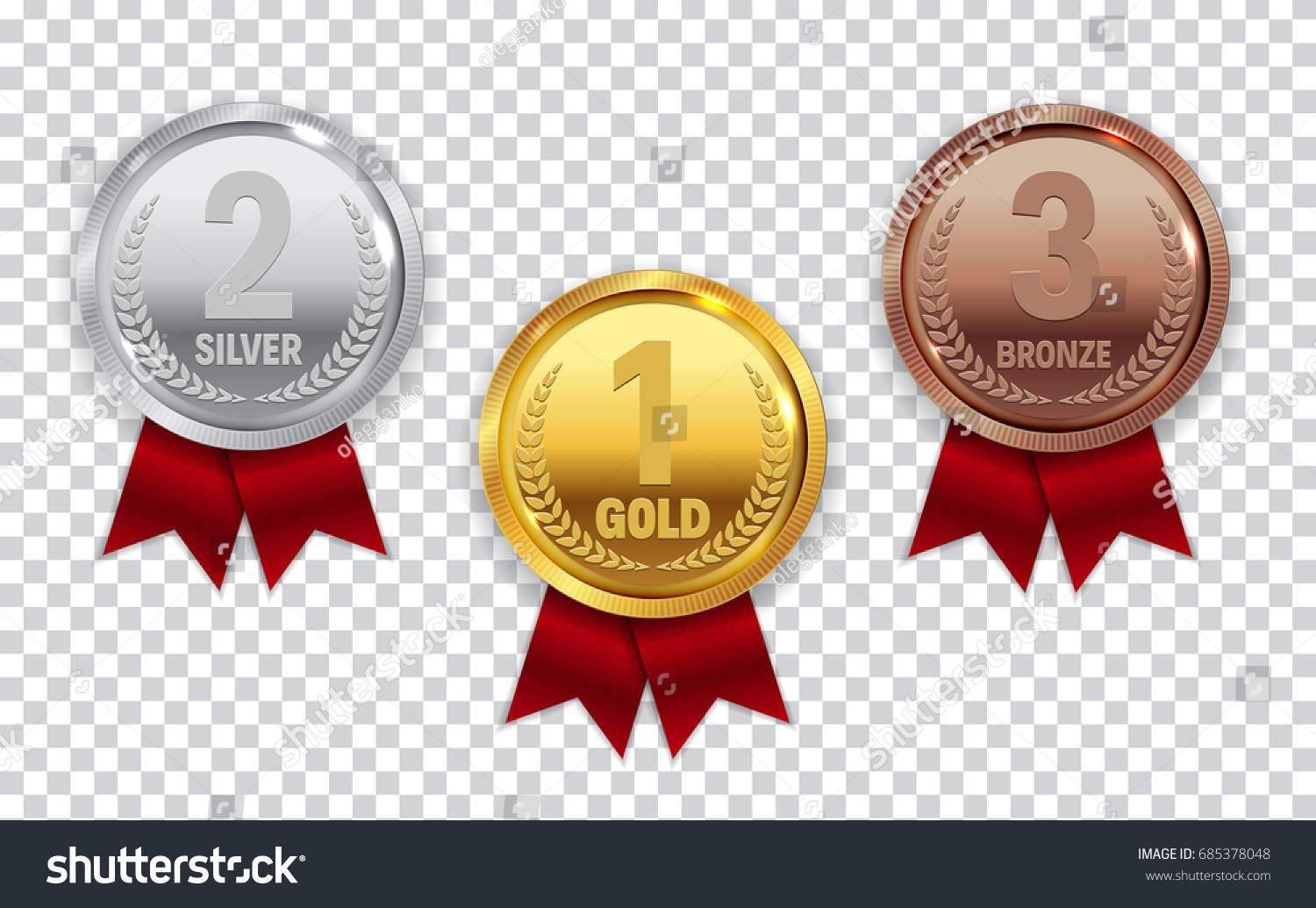 champion gold silver bronze medal red stock vector. Black Bedroom Furniture Sets. Home Design Ideas