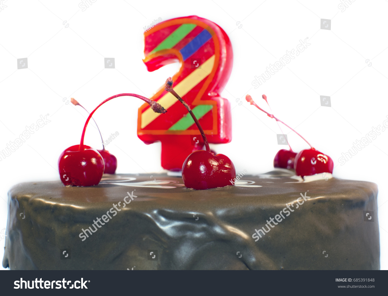 Birthday Cake 2 Years Old Stock Photo Royalty Free 685391848