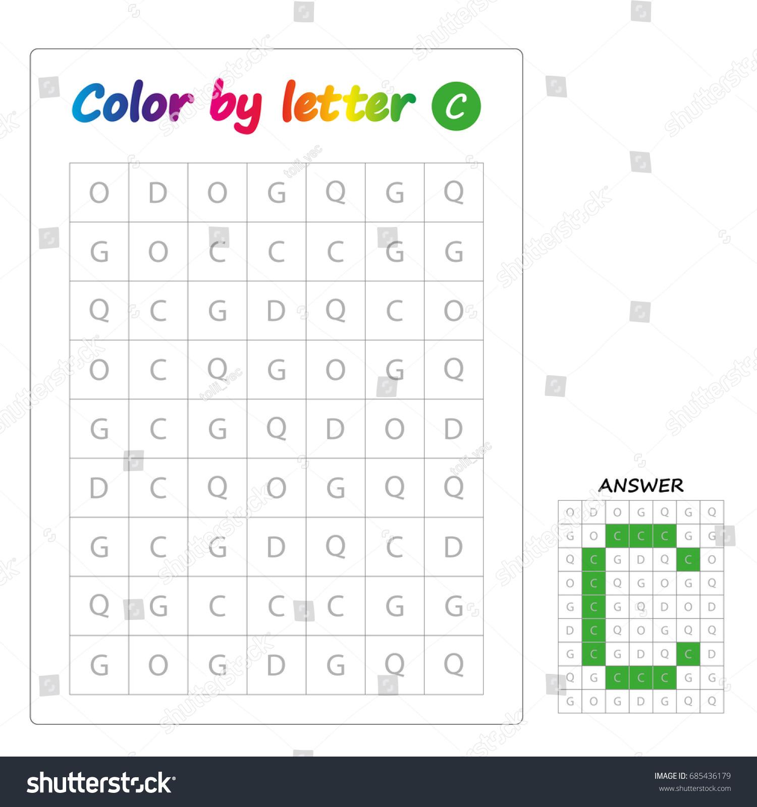 Learning alphabet, letters. worksheet for preschool children, kids.