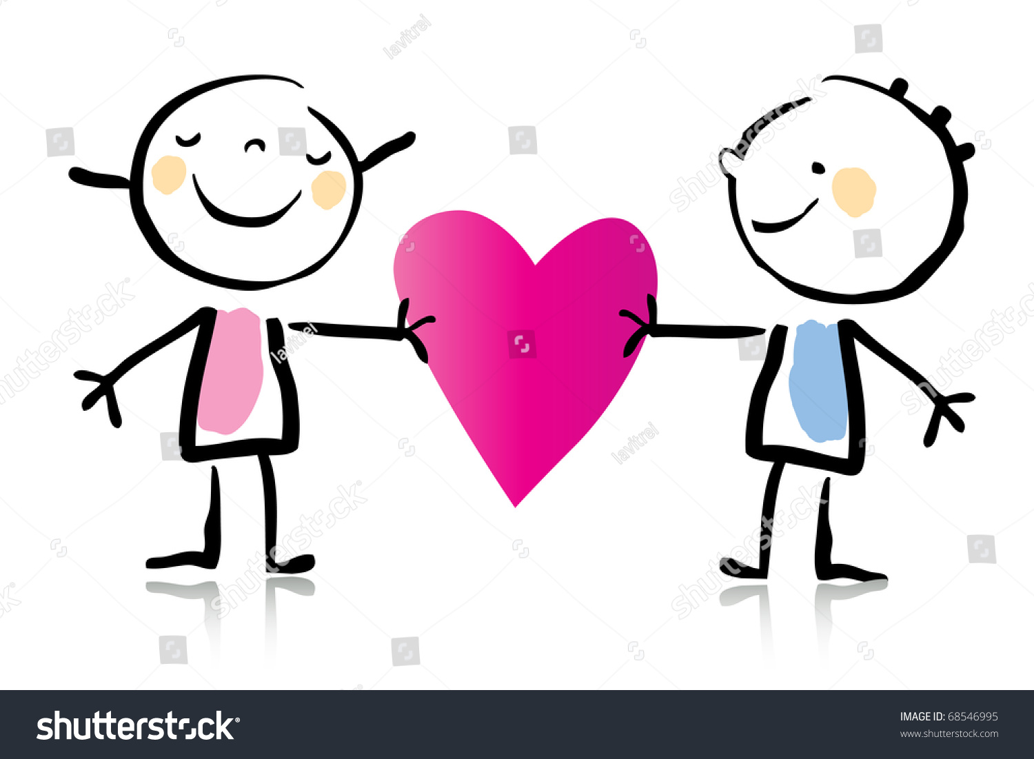 valentines day cartoon romantic couple love stock vector 68546995