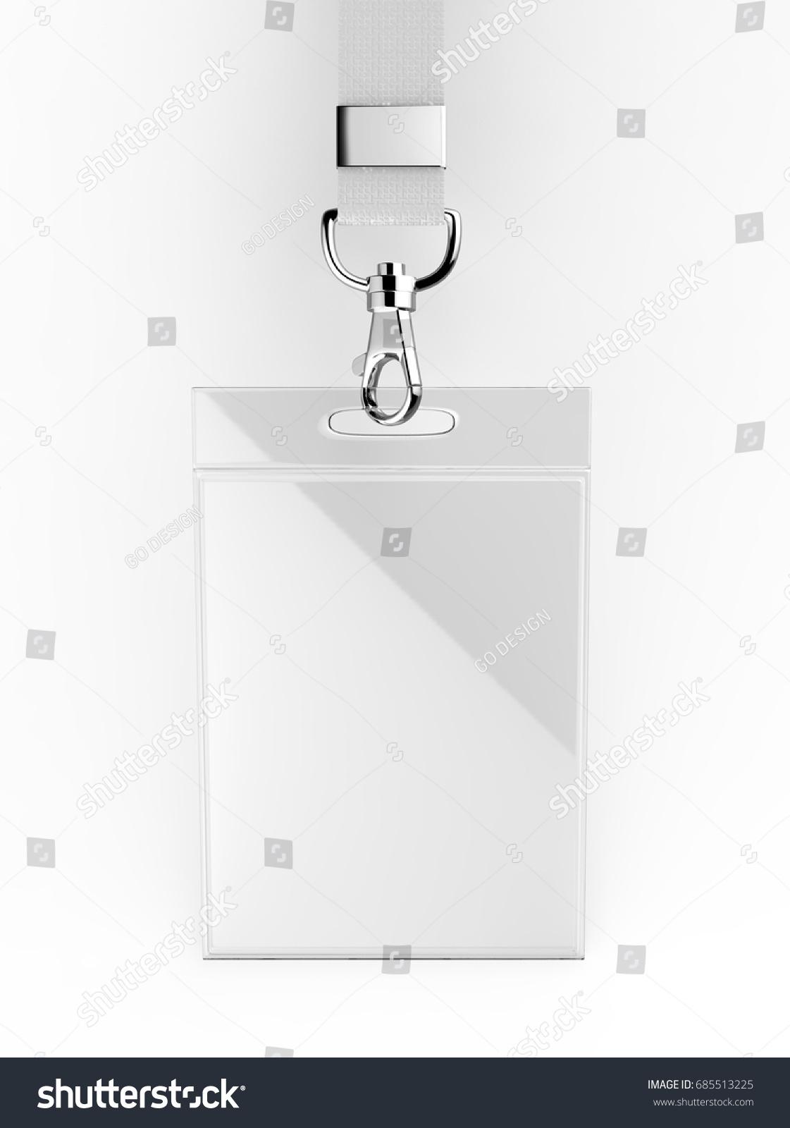Identification Blank Empty Plastic Id Cards Stock Illustration ...