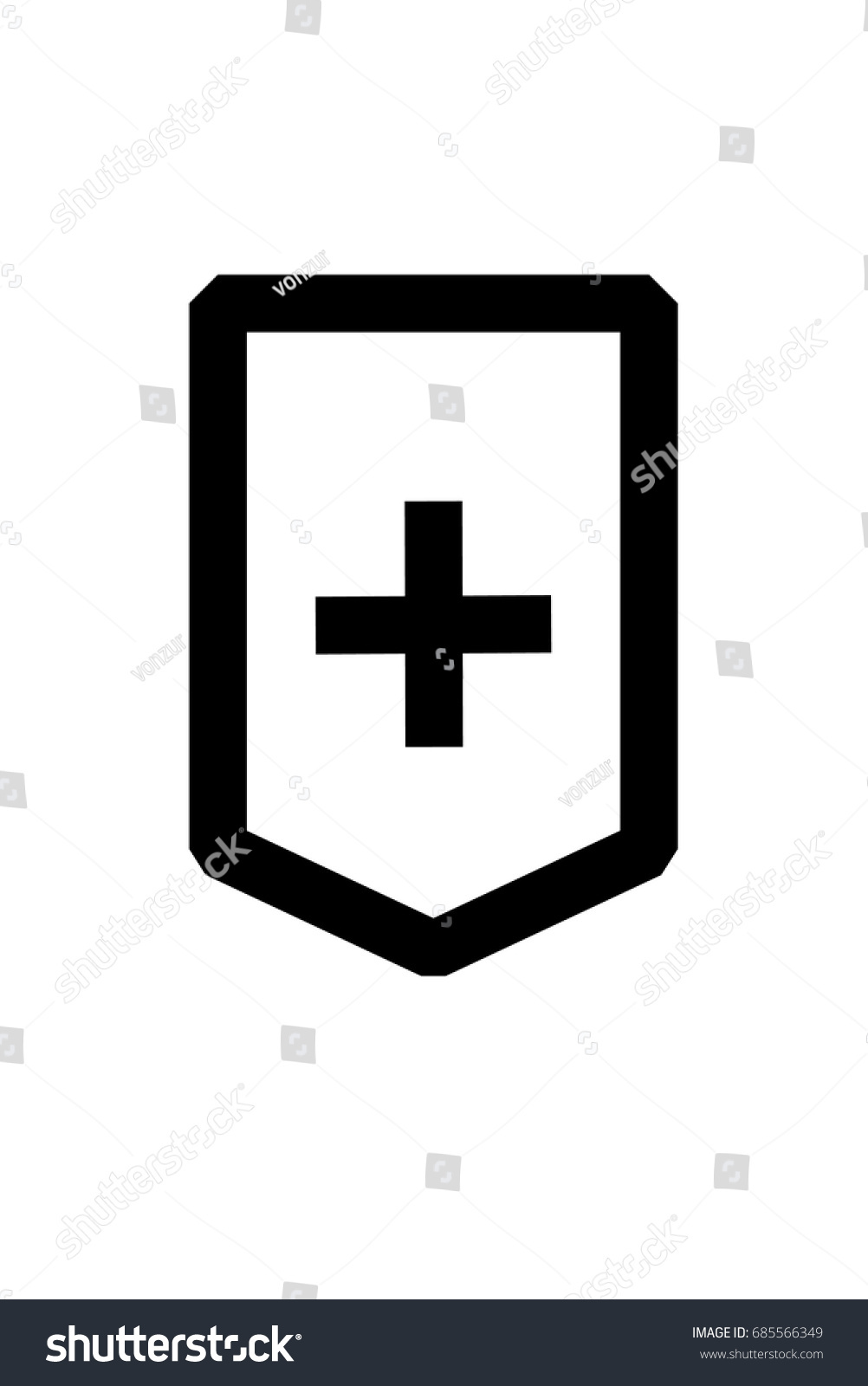 Protection Abstract Symbol Logo Tattoo White Stock Vector Royalty