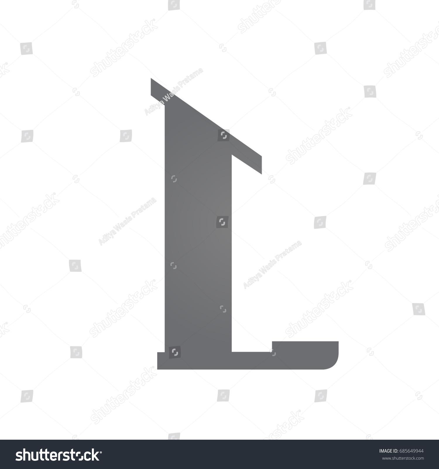 Vector Grey Single Letter L Real Estate Logo Ez Canvas
