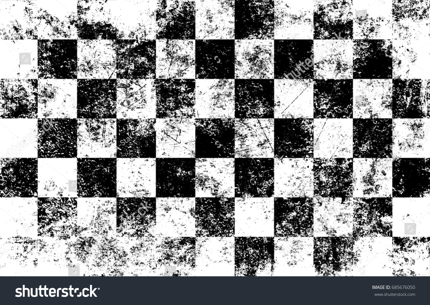 f87cc114492 Black white checkered grunge background. Worn scratched template. Shabby  overlay pattern. Distress texture