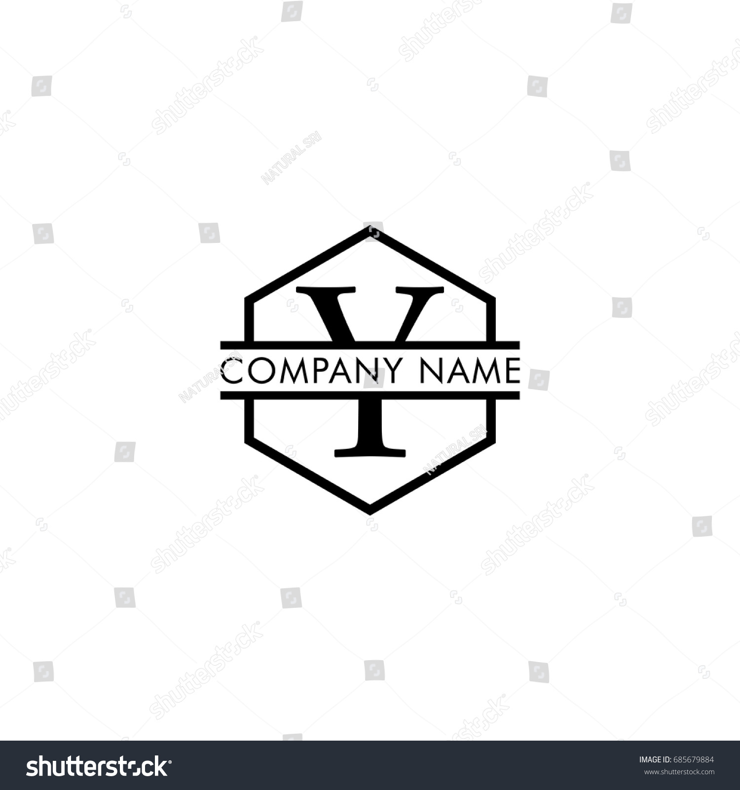 pany Logo Vector Letter Y Black Stock Vector