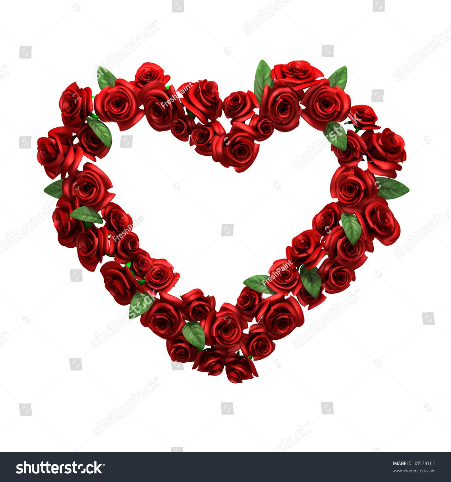 Red Rose Frame Form Heart Stock Illustration 68573161 - Shutterstock