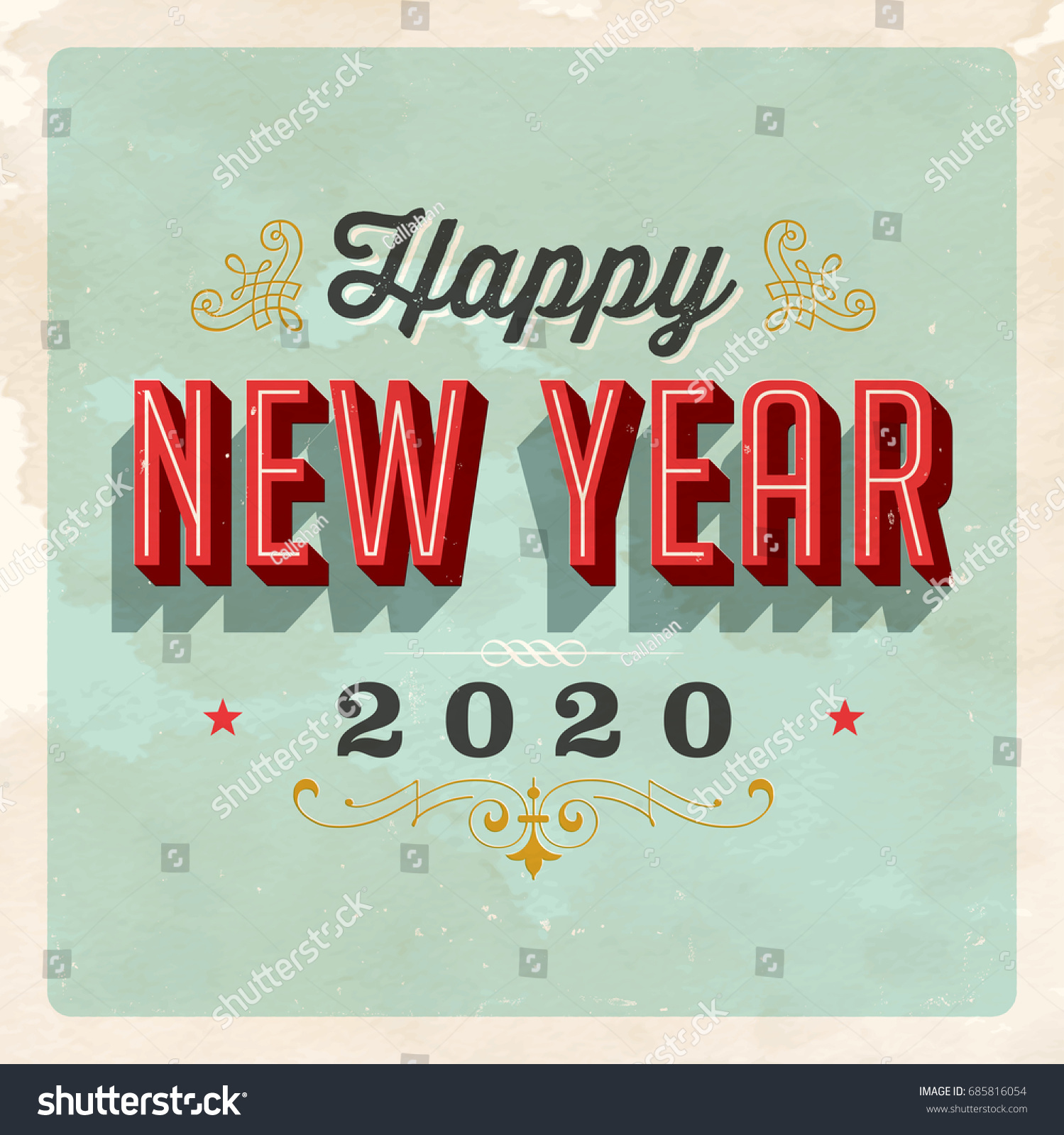 vintage 2020 new years eve greeting card vector eps 10 grunge effects can be