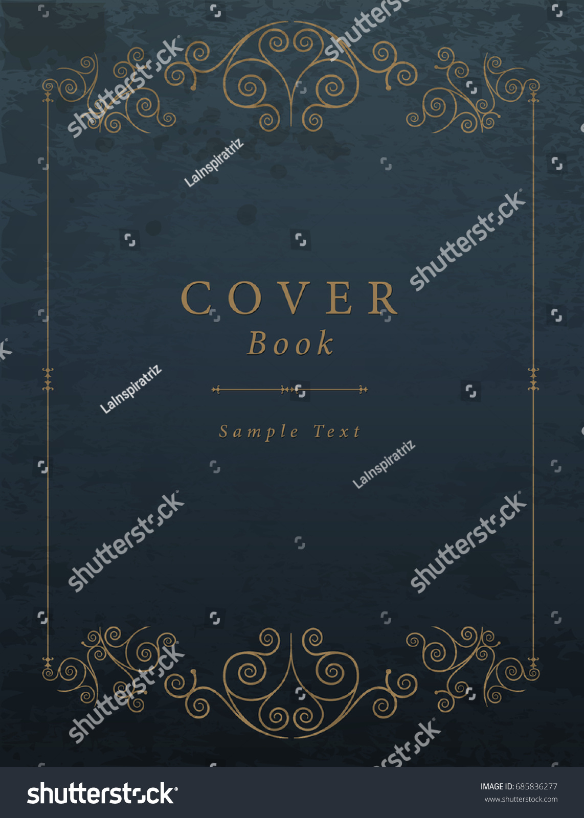 Cool Book Cover Vector : Vintage book cover vector illustration stock
