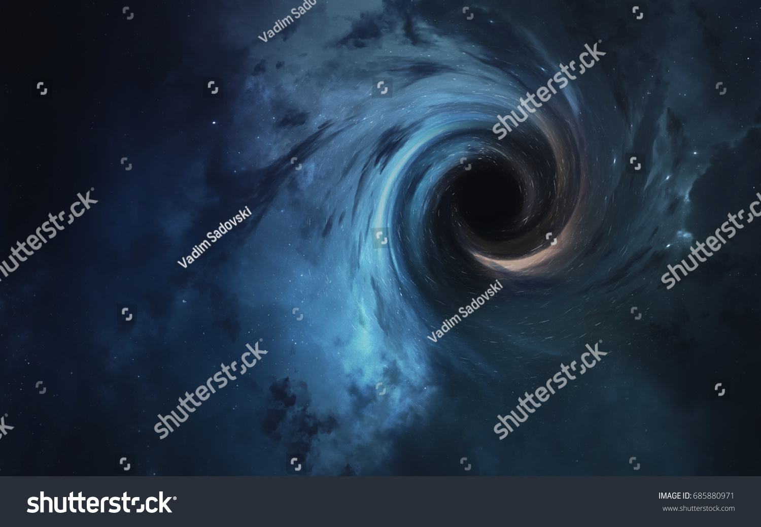 Black Hole Abstract Space Wallpaper Universe Science Stock Image 685880971