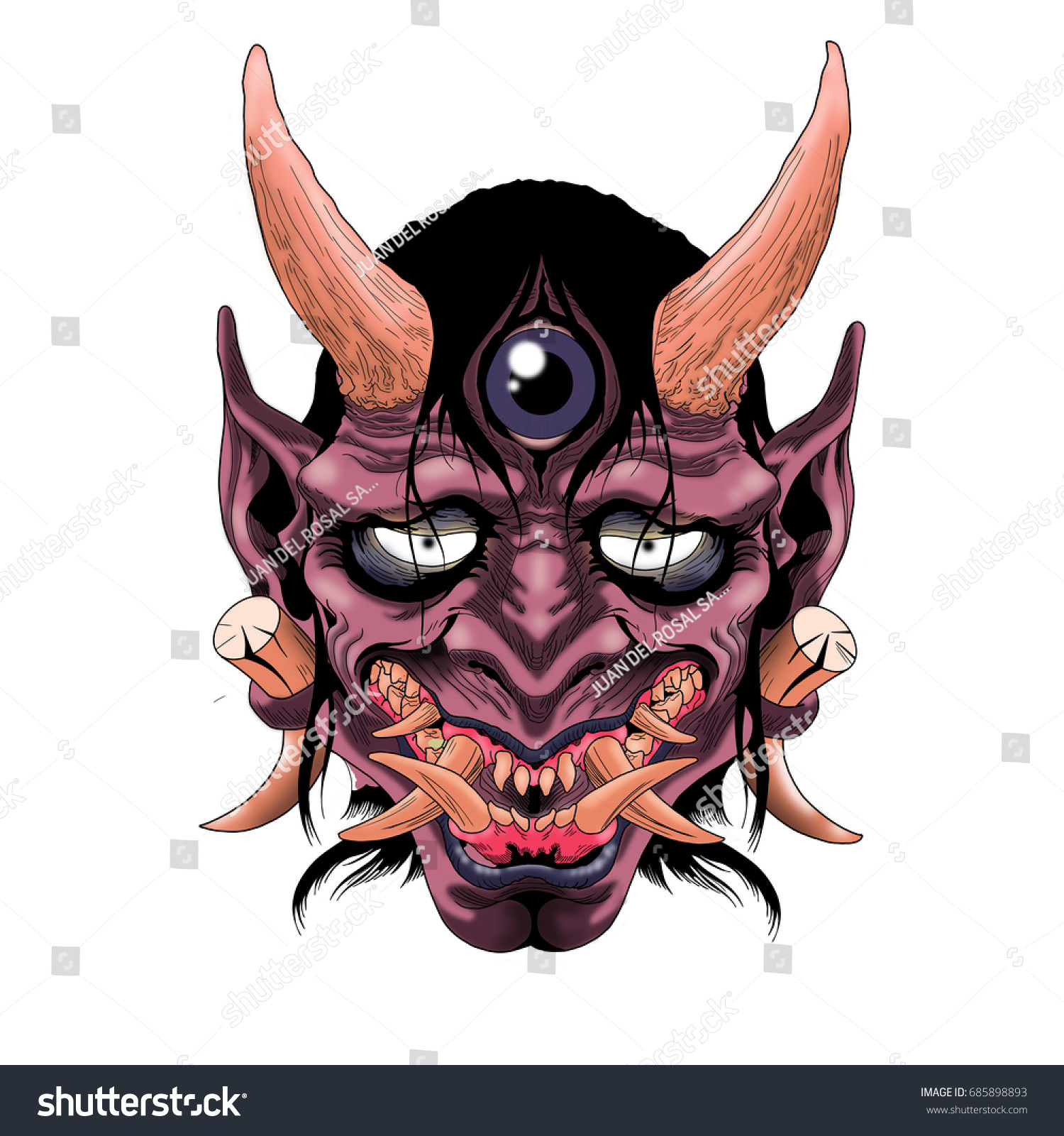 Japanese Demon_Tattoo design by blacksilence92 on DeviantArt |Demon Japanese Traditional Designs