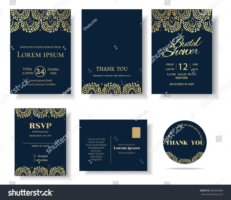 Set muslim wedding invitation cardtemplate greeting stock vector set of muslim wedding invitation cardtemplate greeting cardvintage decorative elementsctor stopboris Images