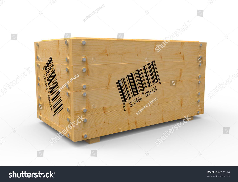 3d wooden box barcode stock illustration 68591170 shutterstock 3d wooden box with barcode buycottarizona Gallery