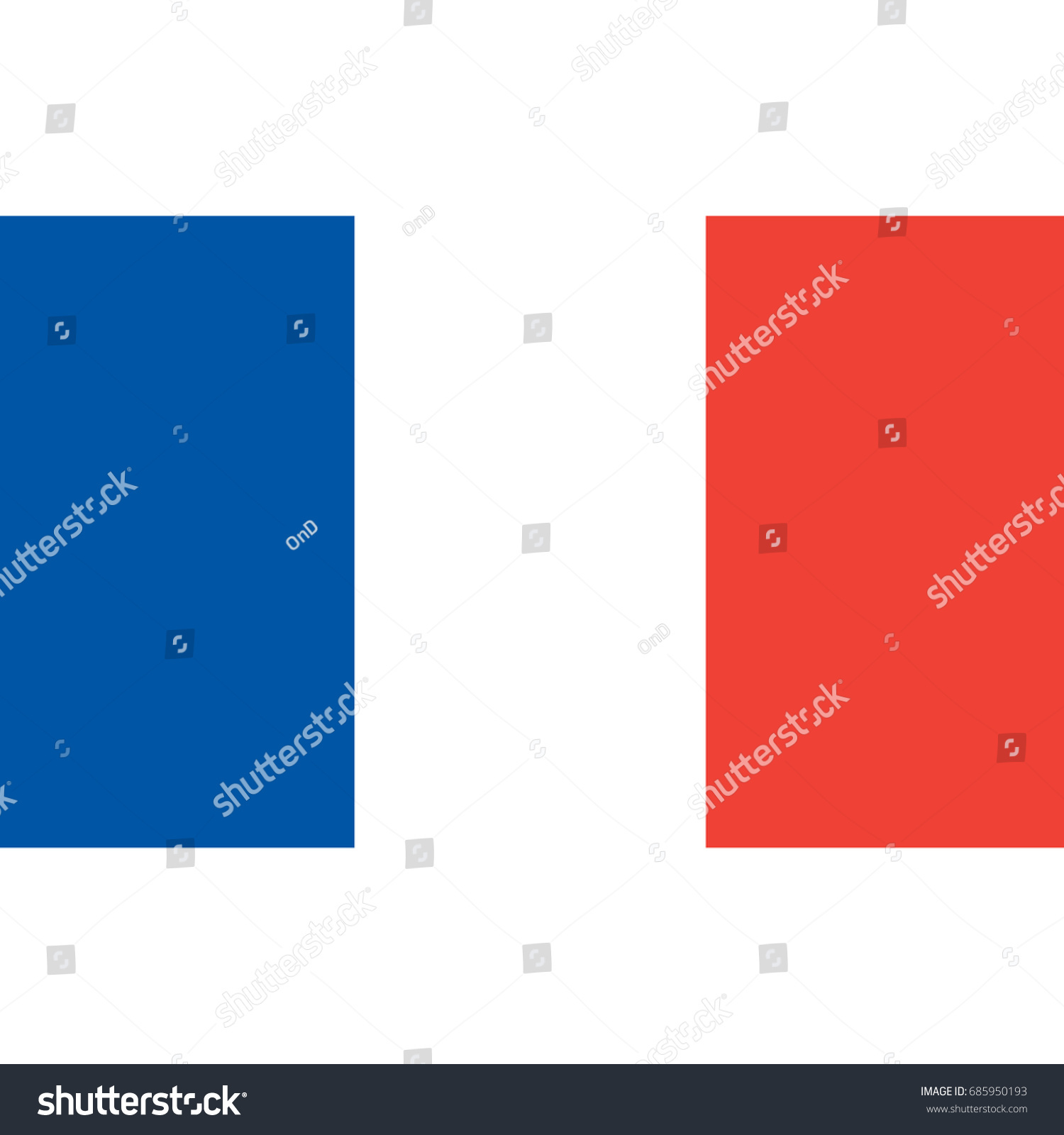 france flag official colors proportion correctly stock vector