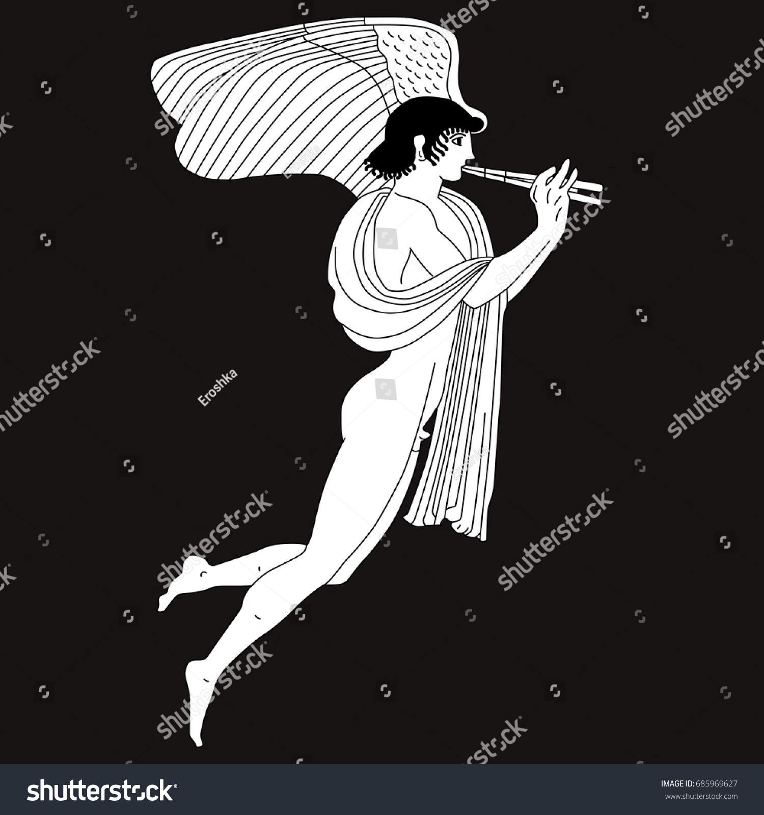 Vector Image Naked Ancient Greek God Stock Vector Royalty Free