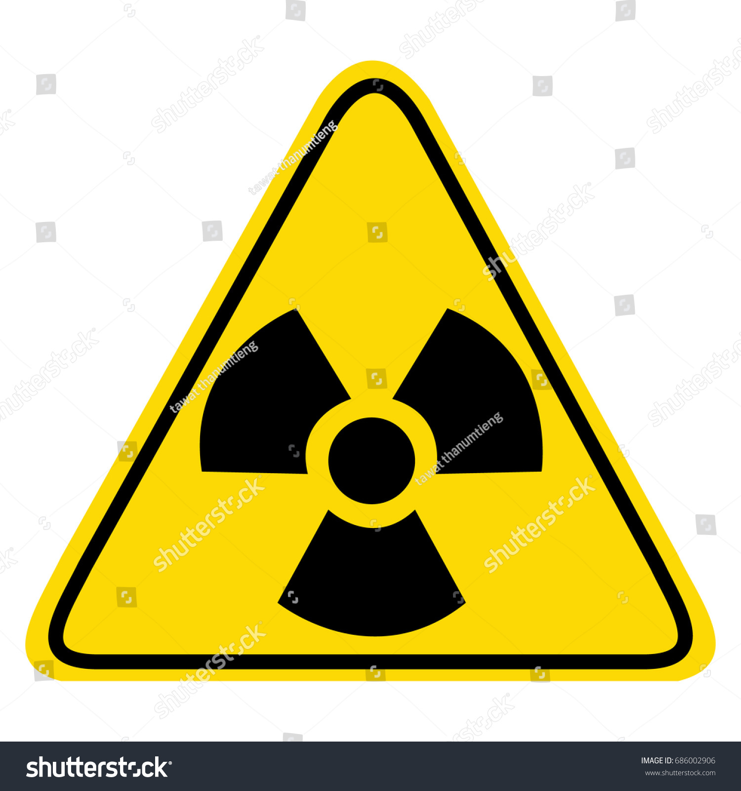 Radiation Hazard Sign Symbol Radioactive Threat Stock Vector 2018
