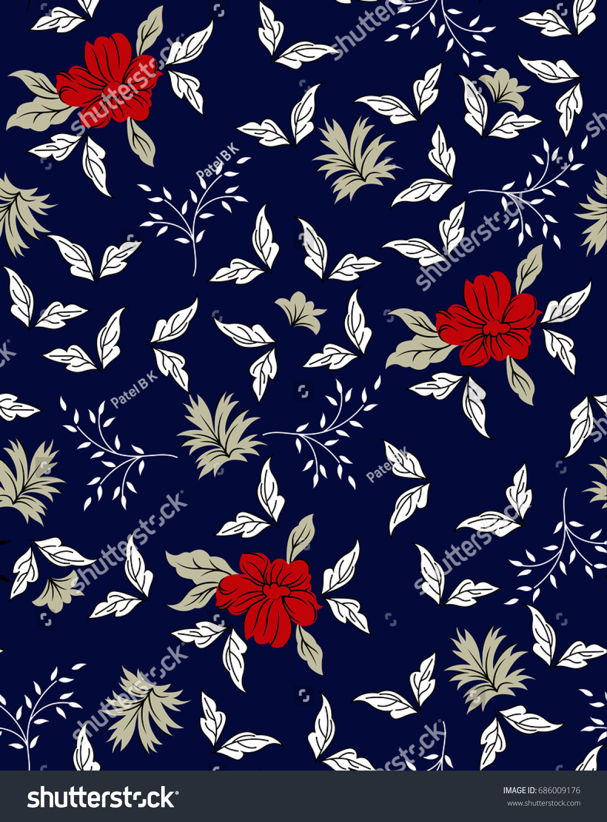Navy Red Flower Images Stock Photos Vectors Shutterstock