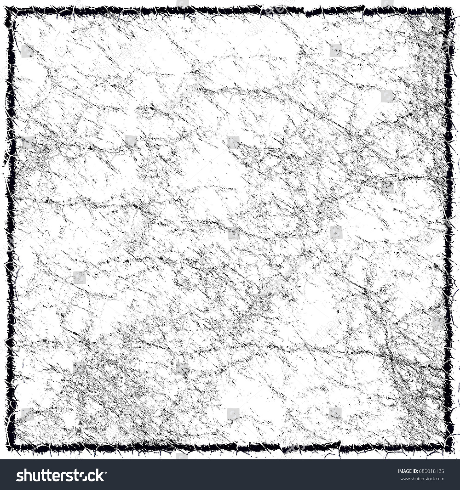 black and white grunge background with a black border