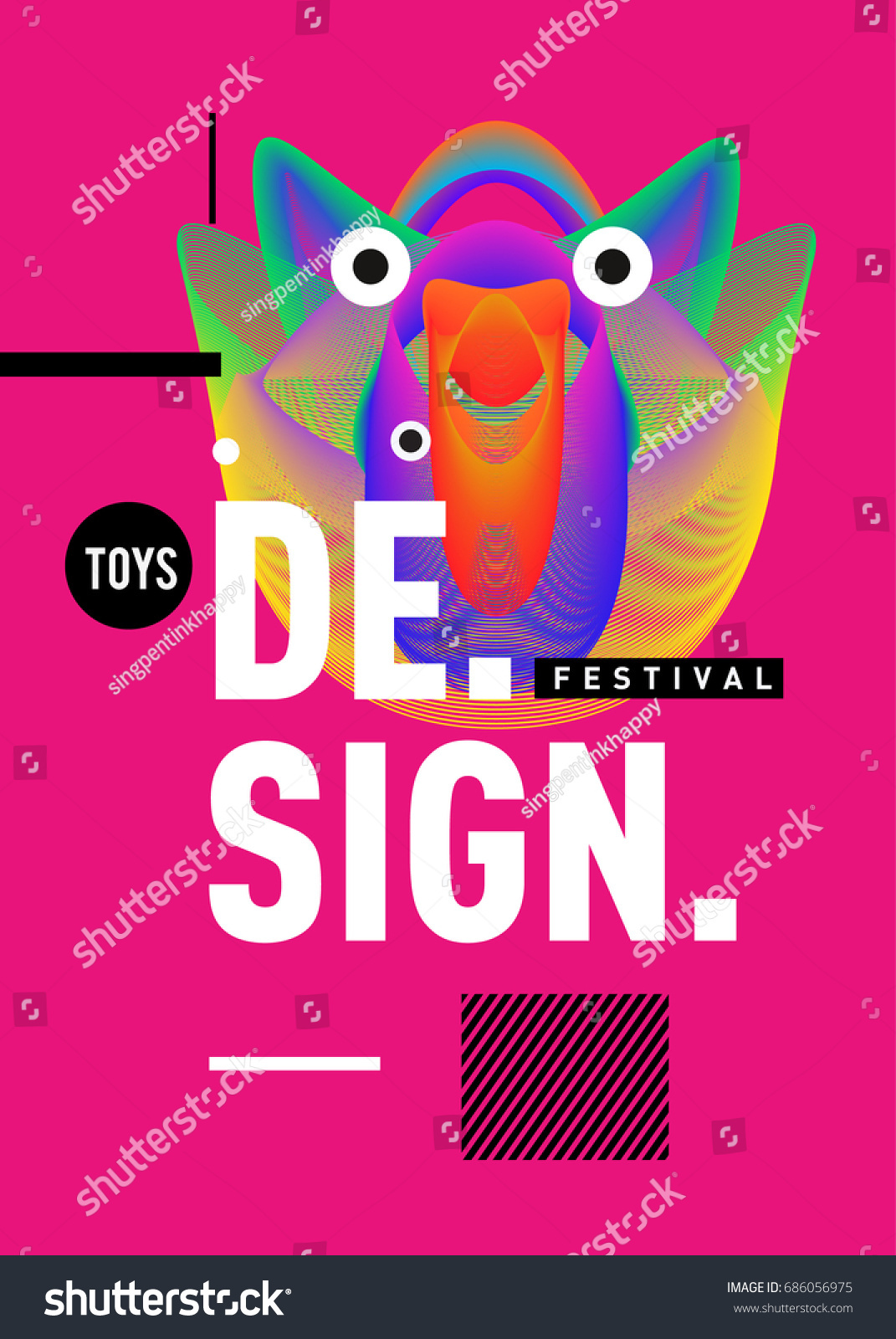abstract modern toys design festival poster stock vector royalty