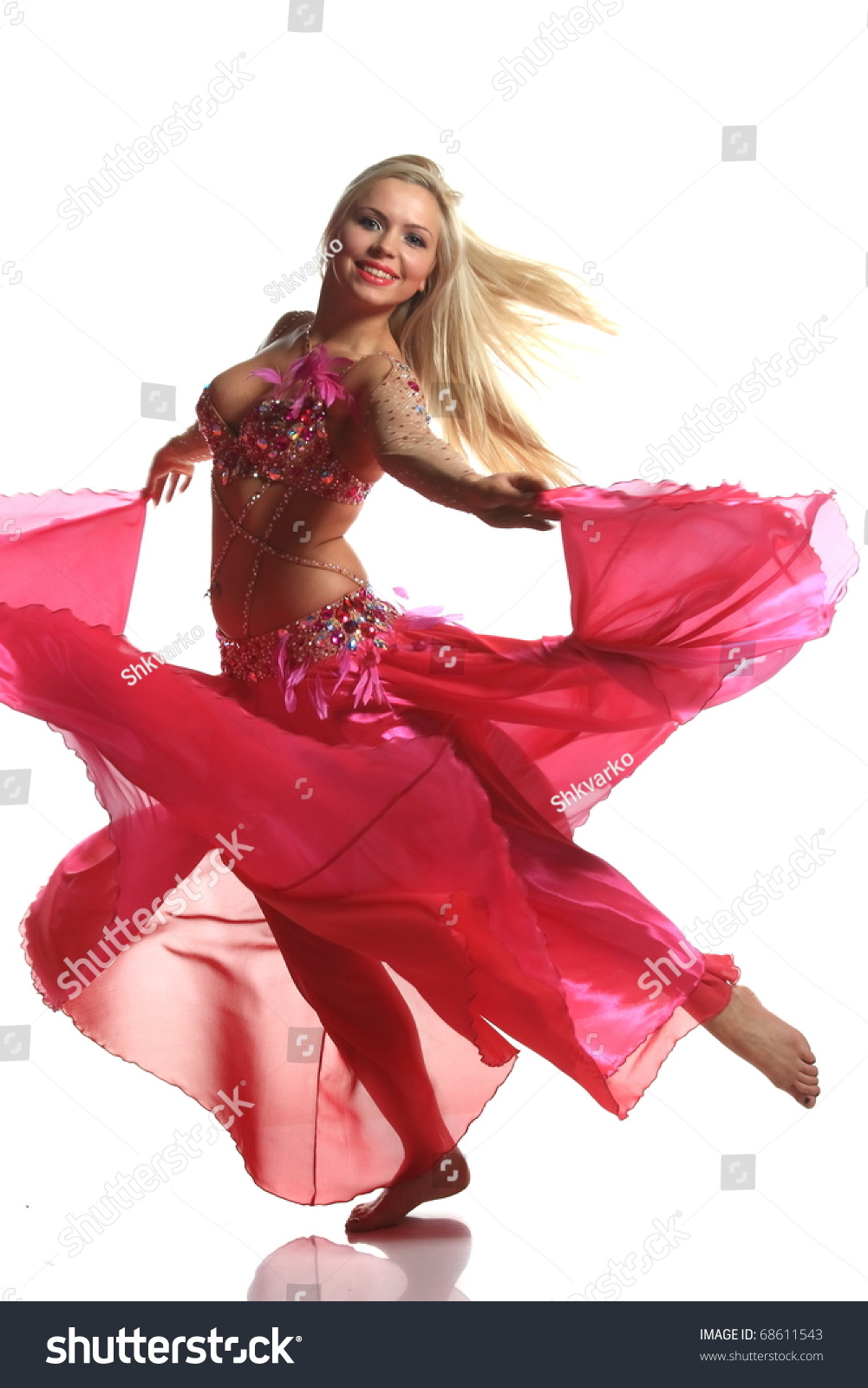 64b6b9f666c59 Beautiful Blonde Active Arab Dance Stock Photo (Edit Now) 68611543 ...