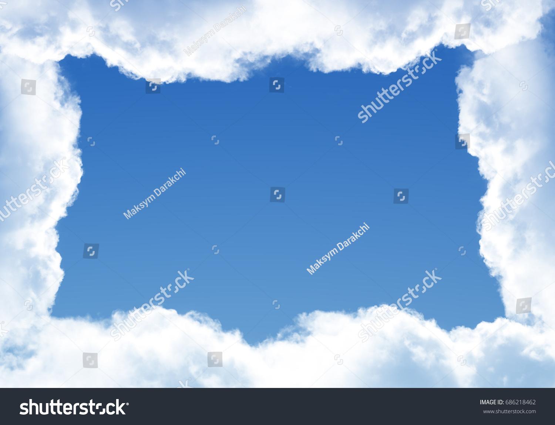 Cloud Shaped Frame Different Design Purposes Stock Illustration ...