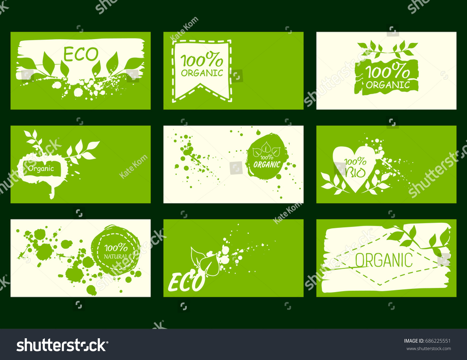Set vector environmental business cards natural stock vector 2018 set of vector environmental business cards natural products healthy food 100 natural colourmoves Images