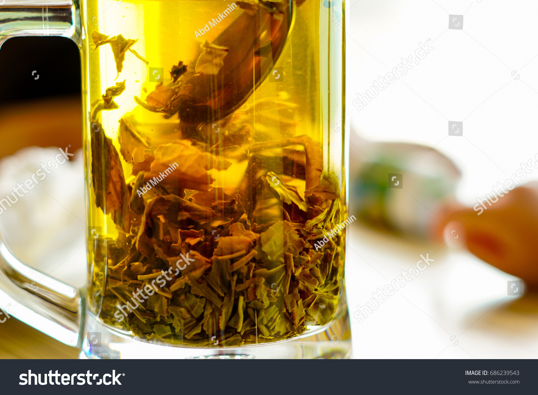 Fresh Hot Jasmine Tea Made By Stock Photo Edit Now 686239543