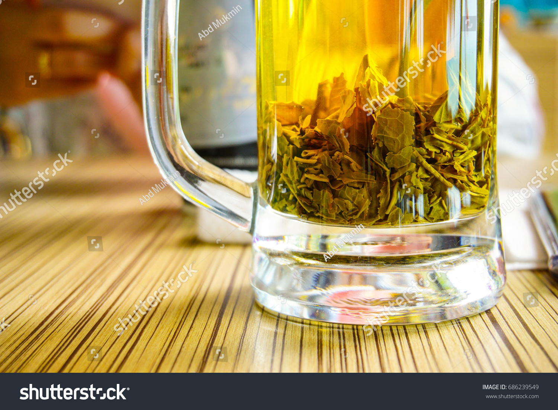 Fresh Hot Jasmine Tea Made By Stock Photo Edit Now 686239549