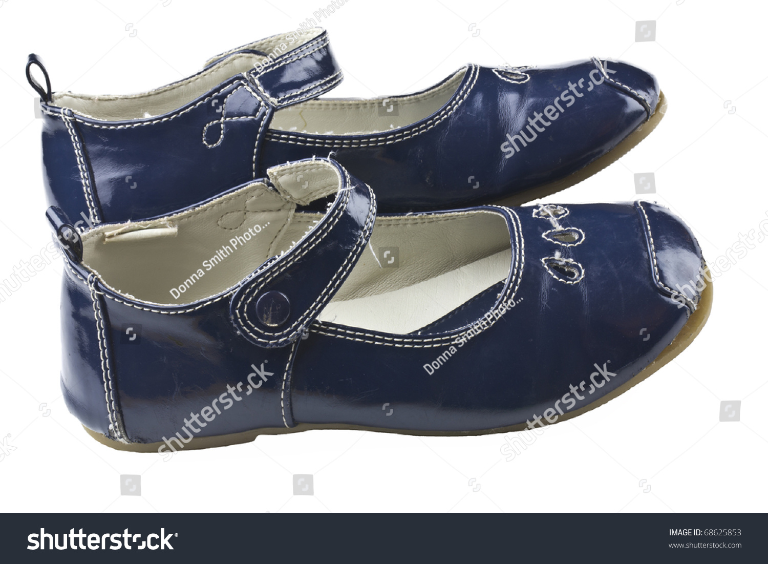 toddler s blue dress shoes stock photo 68625853